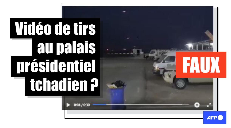 Non, cette vidéo ne montre pas des tirs au palais présidentiel au Tchad mais des affrontements en Irak en 2020