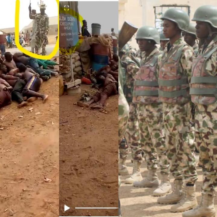 Non, il ne s'agit pas de vidéo d'exactions au Niger, mais de ravisseurs arrêtés par les forces au Nigeria.