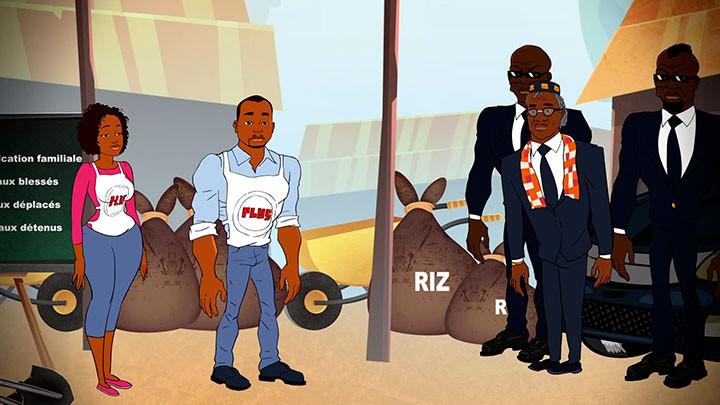 Guy Kalou, Konnie Touré, Gbaney et Larigueur Bino réunis dans la web série d'animation « Les Bons Voisins »