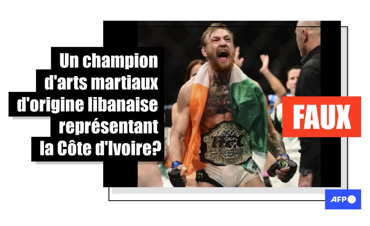 Cette photo montre le champion irlandais de MMA Conor McGregor, pas un représentant de la Côte d'Ivoire
