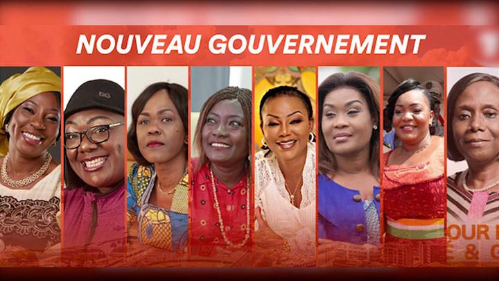 Nouveau gouvernement ivoirien, 08 femmes nommées
