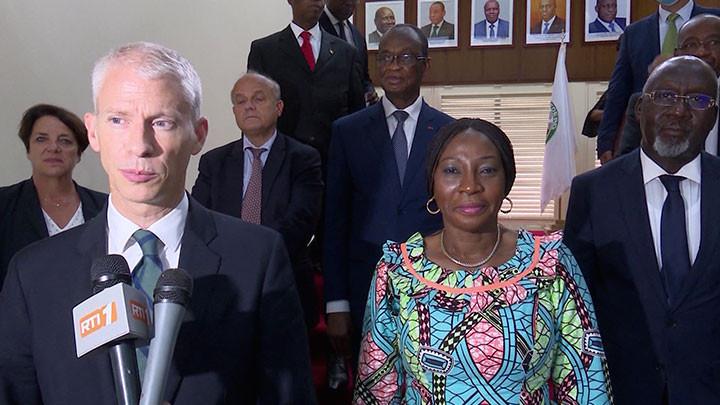 Kandia Camara en audience le ministre français du commerce extérieur et de l'attractivité