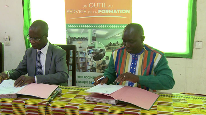 9e TAC/Signature de convention de partenariat entre l'ISTC polytechnique d'Abidjan et l'ISTIC de Ouagadougou