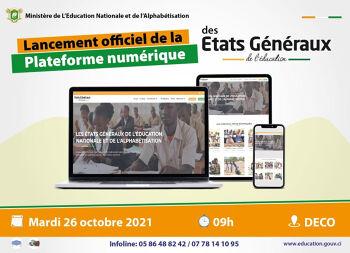 Lancement officiel de la plateforme numérique des états généraux de l'éducation nationale